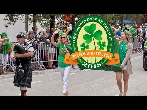 Parade St. Patrick's  Fort Lauderdale 2018 -Full length 1h 48m- HD1080p (Shot with UHD 4K)