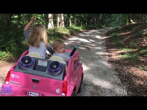 Lost BA in the woods found walking ALONE rescued  Play Doh Girl in her Pink Power Wheels Ride On