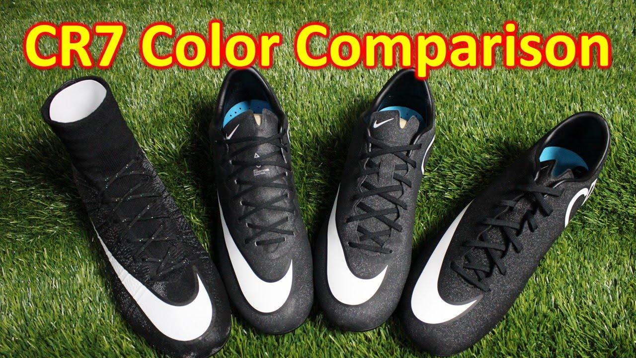 brand new 1f3da a3e90 Nike CR7 Gala Glimmer Mercurial Colorway Comparison (4K)