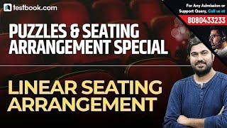 Puzzles & Seating Arrangement Special | Linear Seating Arrangement for Bank & SSC Exams | Shyam Sir