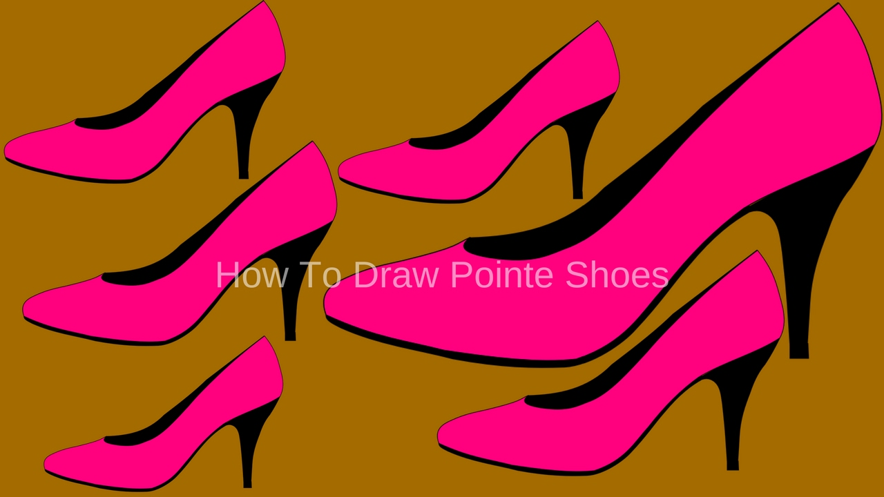 How To Draw Pointe Shoes,how To Draw Pumps Shoes How To Draw Funny Shoes  Easy