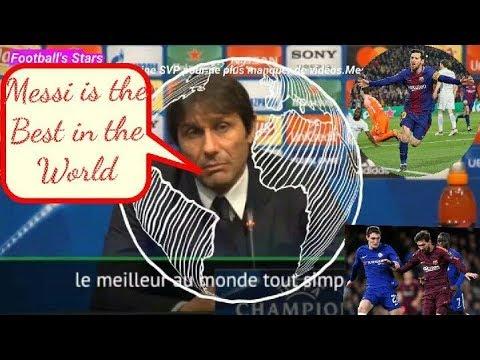 """Antonio Conté en conférence de presse: """" Messi est le Meilleur joueur du Monde """" . Ecoutez"""