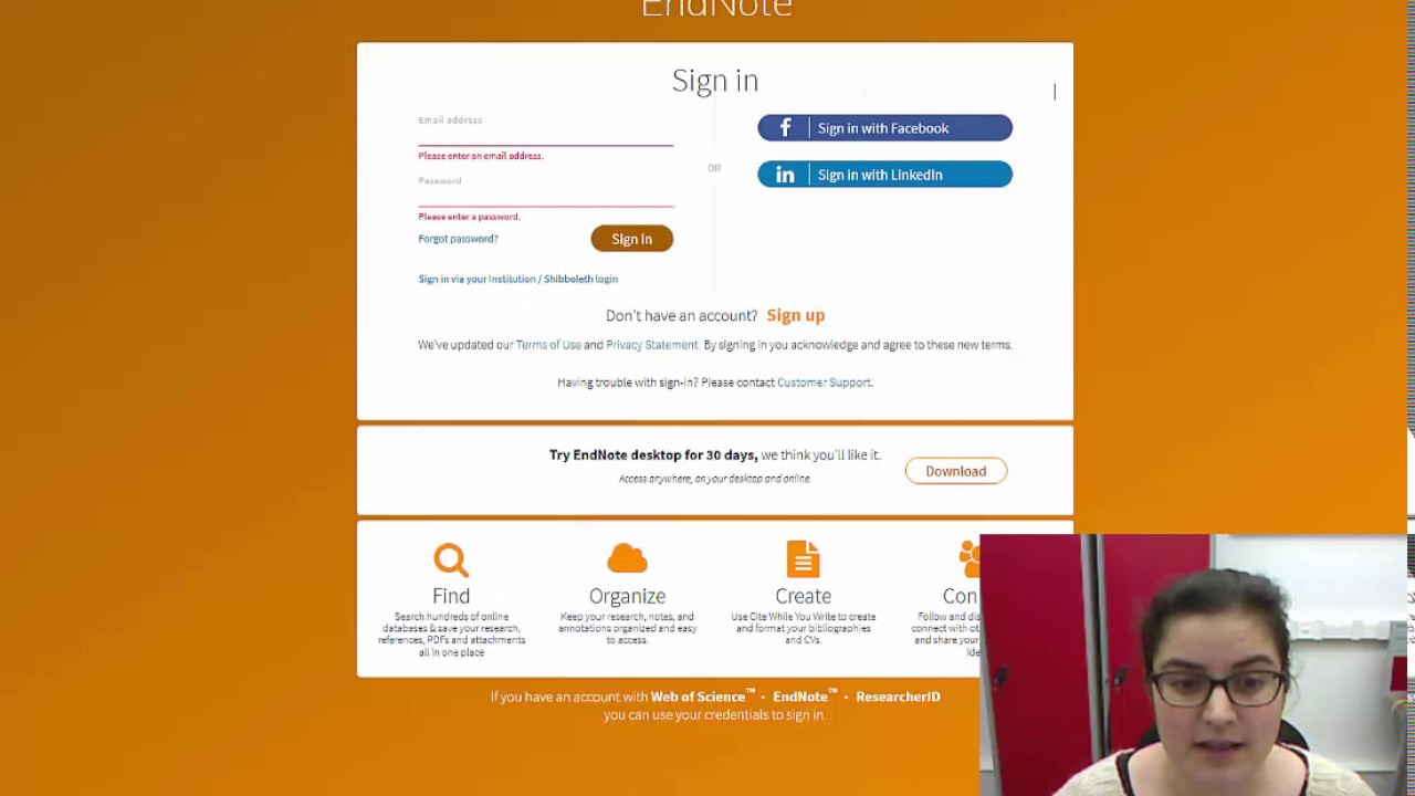 How To Sign Up For Endnote Web