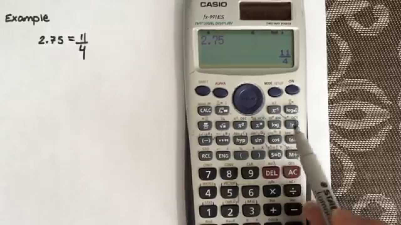How to convert from a decimal to a fraction using the calculator ...