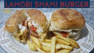 Shami burger | Lahori Burger | Anady walay Burger |Easy new recipe by golden kitchen