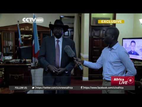 President Salva Kiir shows scarred presidential compound