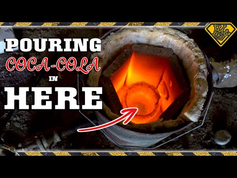 Molten Aluminum In Coke Has A CRAZY Reaction