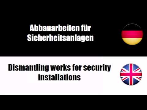 Deutsch + Englisch = Construction work