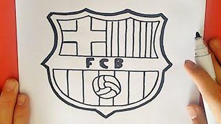 Wie zeichnet man das fc barcelona logo (fcb)