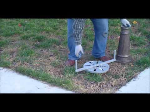 Install Royal Solar Lamp Post With Toci Ground Screw Youtube