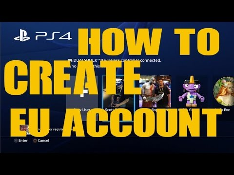 how to set up a us ps4 account