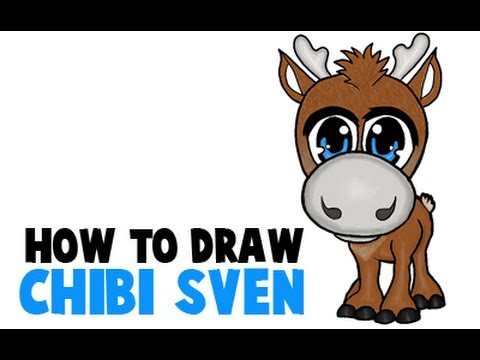 how to draw a chibi sven or baby sven from frozen youtube