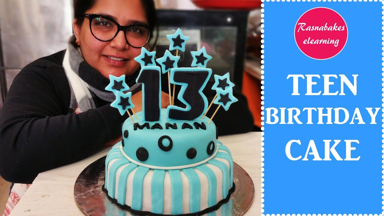 How To Make 13th Birthday Or 13 Year Old Boy Girl Teen Or Teenagers Cake Designs Ideas Decorating Youtube