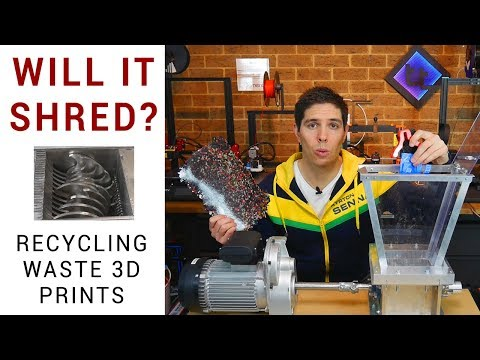 Recycling Waste 3D Prints With A Precious Plastics Shredder