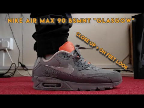 CLOSE UP ON FEET LOOK! Nike Air Max 90 x BSMNT