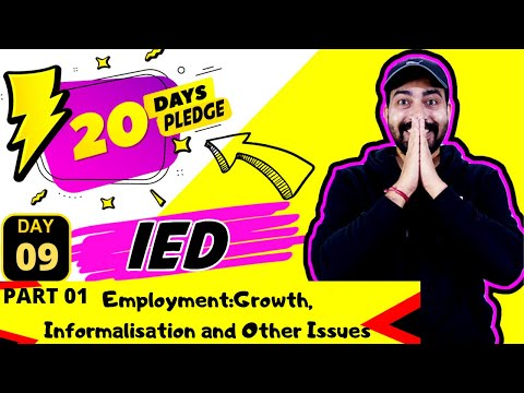 Employment:Growth, Informalisation and Other Issues  Part 01 / COMMERCEBABA
