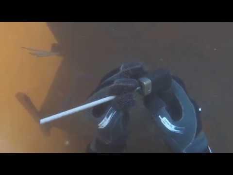 My first time welding underwater