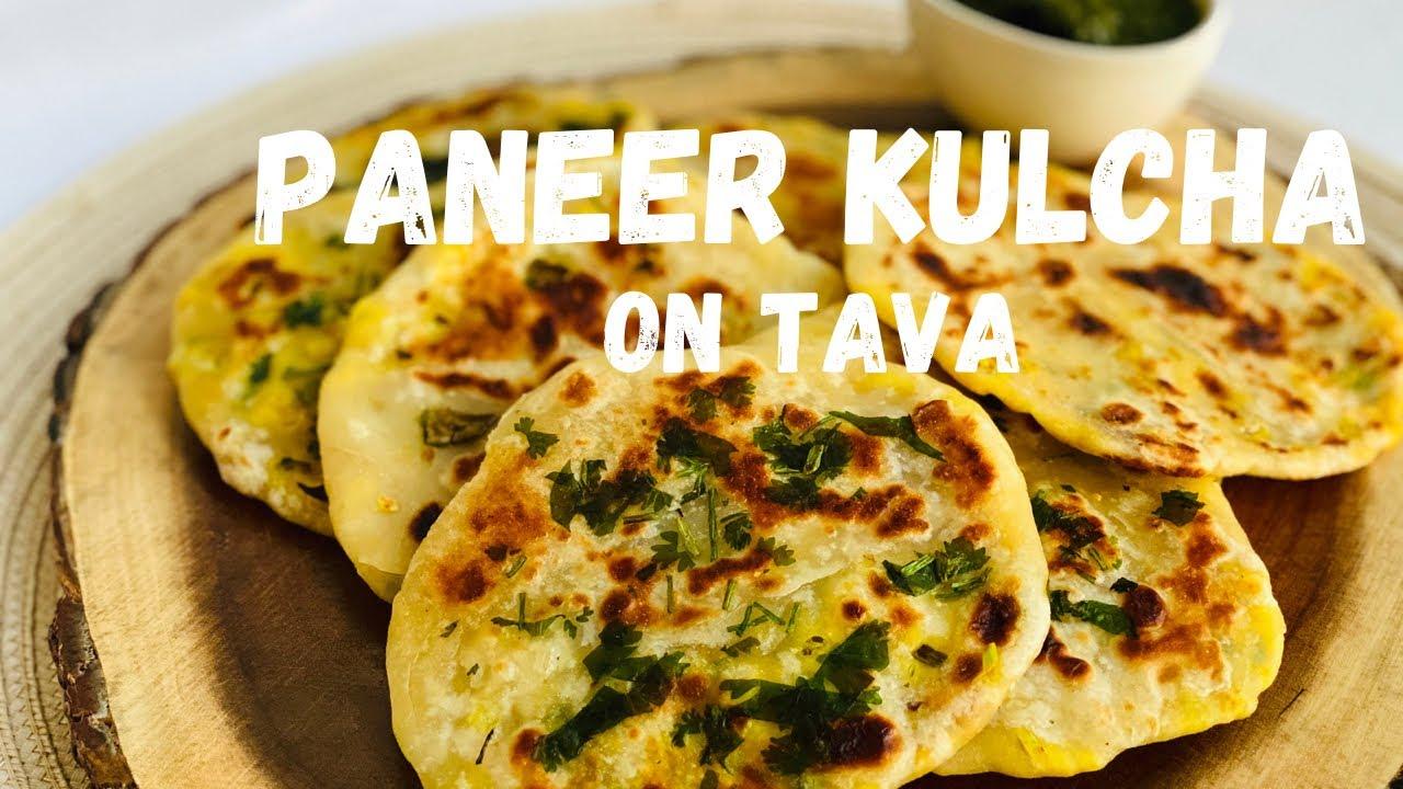 Paneer Kulcha at home - No oven/no yeast/no soda | 2 Easy Kulcha Recipes | पनीर कुलचा |