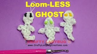 Rainbow Loom-less Halloween Ghost Easy Charm Loom Bands Tutorials/how To Make By Crafty Ladybug