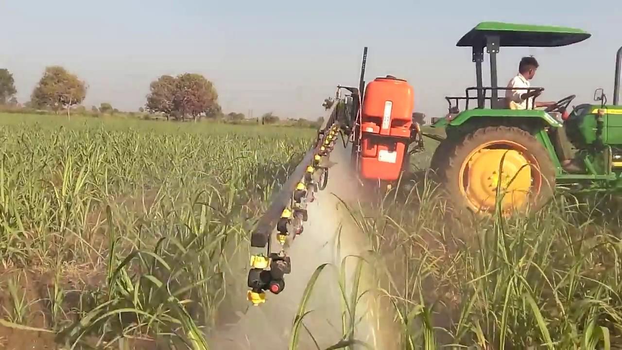 John Deere Sprayer >> Shaktiman Rakshak Tractor Mounted sprayer -Sugarcane - YouTube
