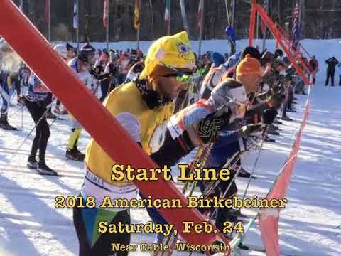 Start Of 2018 American Birkebeiner Race Near Cable