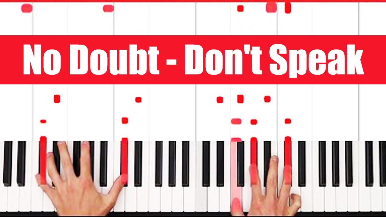 Don't Speak No Doubt Piano Tutorial Easy Chords