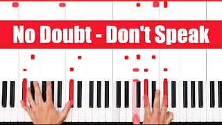 Download Don't Speak No Doubt Piano Tutorial - CHORDS Mp3 and Videos
