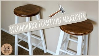 DIY Home Decor⎪Rustic Bar Stools