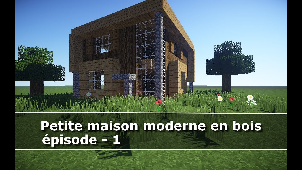 minecraft maison moderne en bois ventana blog. Black Bedroom Furniture Sets. Home Design Ideas