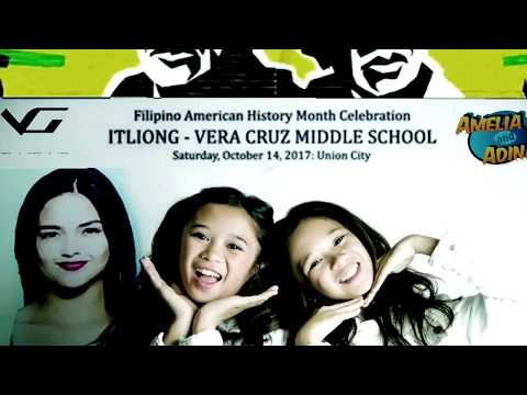 AmeliaAndAdinah priceless moments at Itliong Vera Cruz Middle School Filipino Heritage event perfor