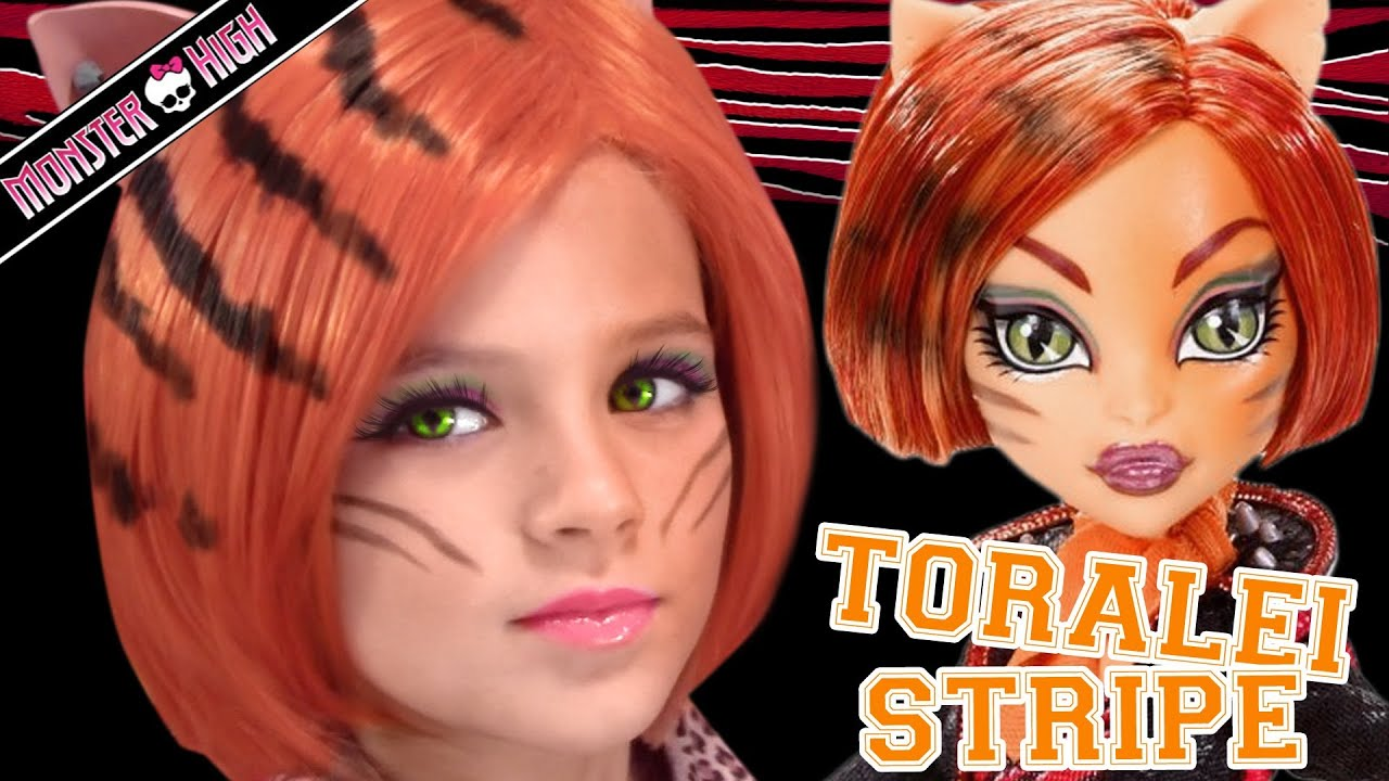 Toralei stripe monster high doll costume makeup tutorial for toralei stripe monster high doll costume makeup tutorial for halloween or cosplay baditri Gallery