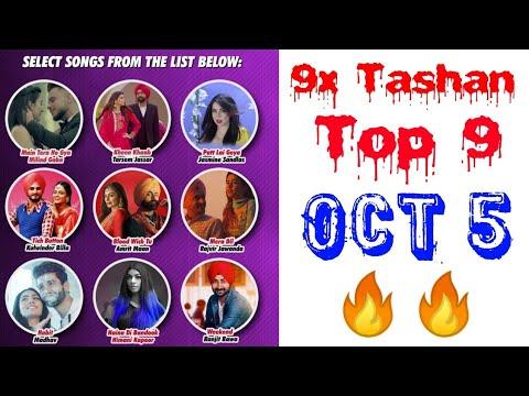 9x Tashan Top 9 This Week   October 5, 2018   Punjabi Hits Songs with Points  