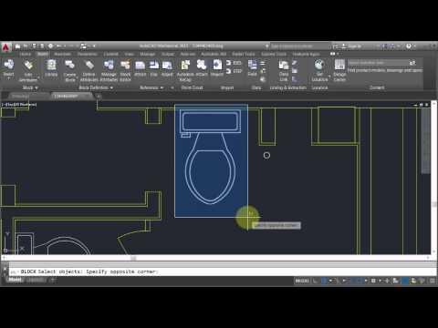 AutoCAD: Editing Blocks - Edit Block In-place - YouTube