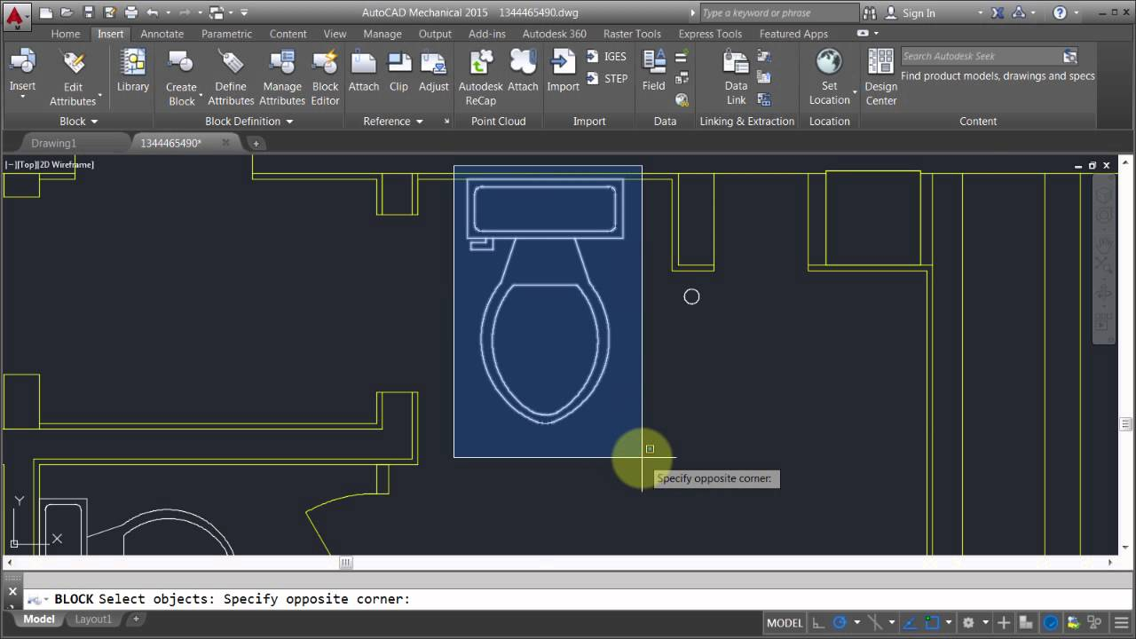 Autocad Editing Blocks Edit Block In Place Youtube