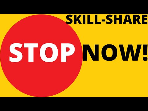DON'T START SKILLSHARE UNTIL YOU WATCH THIS VIDEO.