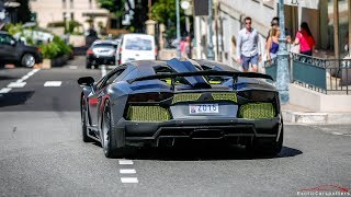CRAZY LOUD Lamborghini Aventador LP760-4 Hamann Nervudo driving in Monaco !