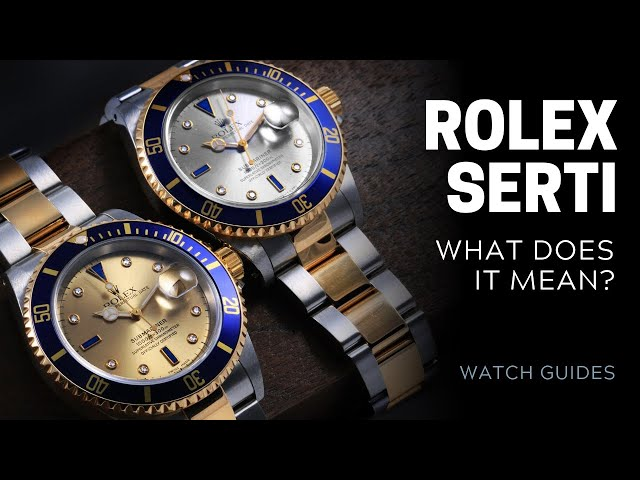 What is a Rolex Serti Dial? | SwissWatchExpo [Rolex Watches]