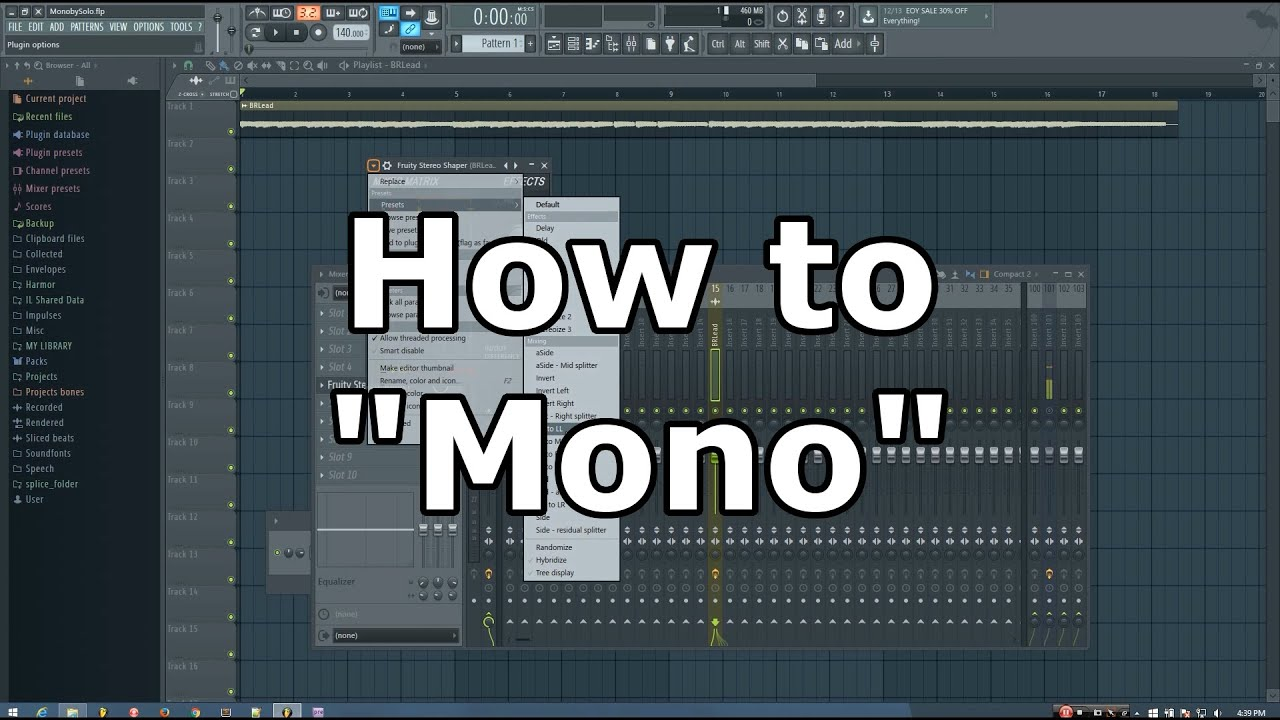 Tip For Converting Stereo Sounds To Mono In FL Studio