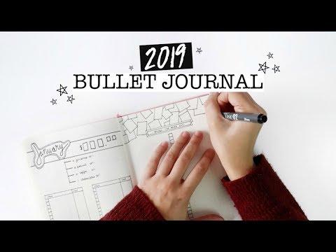 2019 BULLET JOURNAL   goal setting + minimalist spread