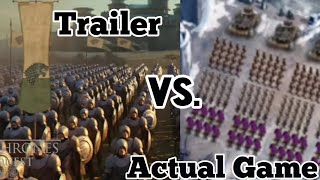 Game Of Thrones Conquest Review: Trailer Vs Actual Game