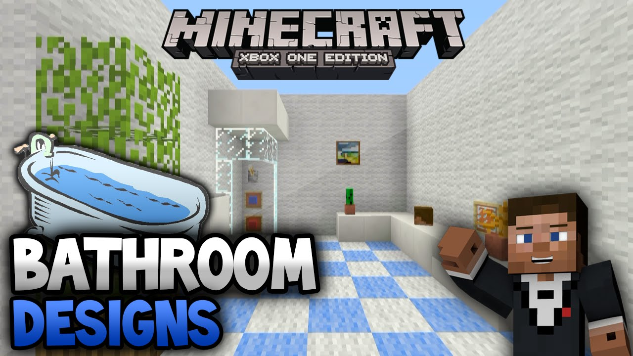 Minecraft Bedroom Ideas Xbox 360 minecraft xbox one/xbox 360 room designs - modern bathroom - youtube