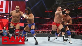 Bobby Roode & Chad Gable vs. The Revival - Raw Tag Team Title Lumberjack Match: Raw, Jan. 7, 201