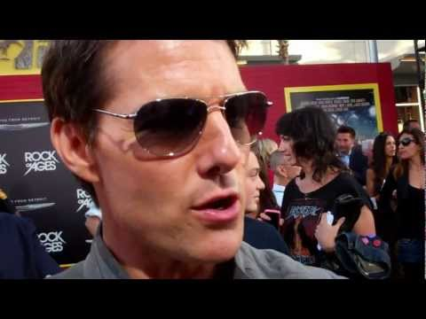 "Tom Cruise at the ""Rock of Ages"" premiere"