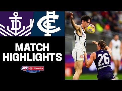 INSANE GAME!   Fremantle V Carlton Highlights   Round 15, 2019   AFL