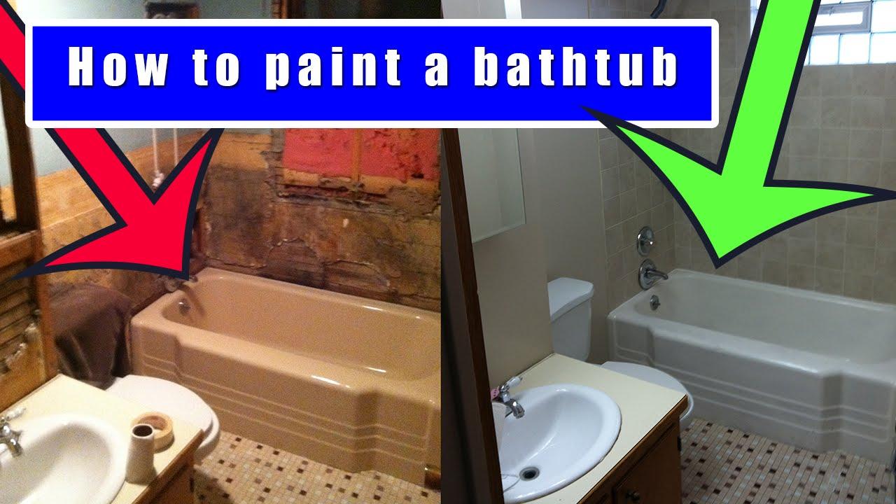 How to paint a bathtub | How to refinish an old bath tub ...