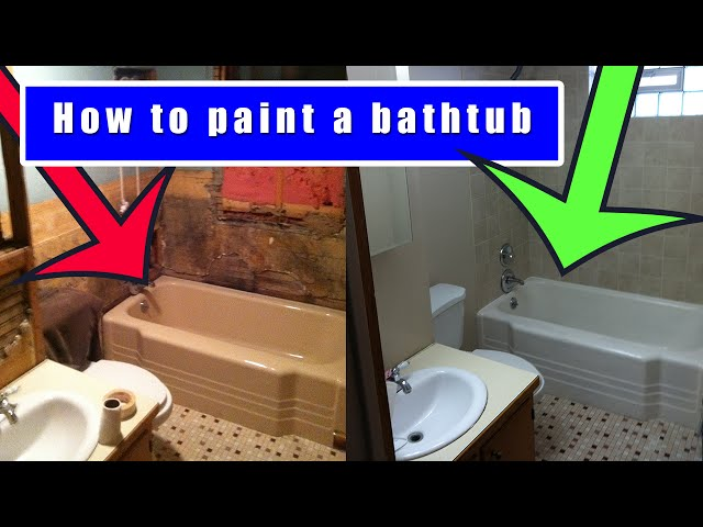 Cool Tub Refinishers Big Bathtub Painters Rectangular Paint The Bathtub Bathroom Tile Reglazing Young Tile Reglazing Cost DarkSpray Painting Bathtub How To Paint The Bathtub (with Pictures)   WikiHow