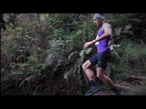 Downhill Trail Running Technique Analysis (Varner down dipsea stairs)