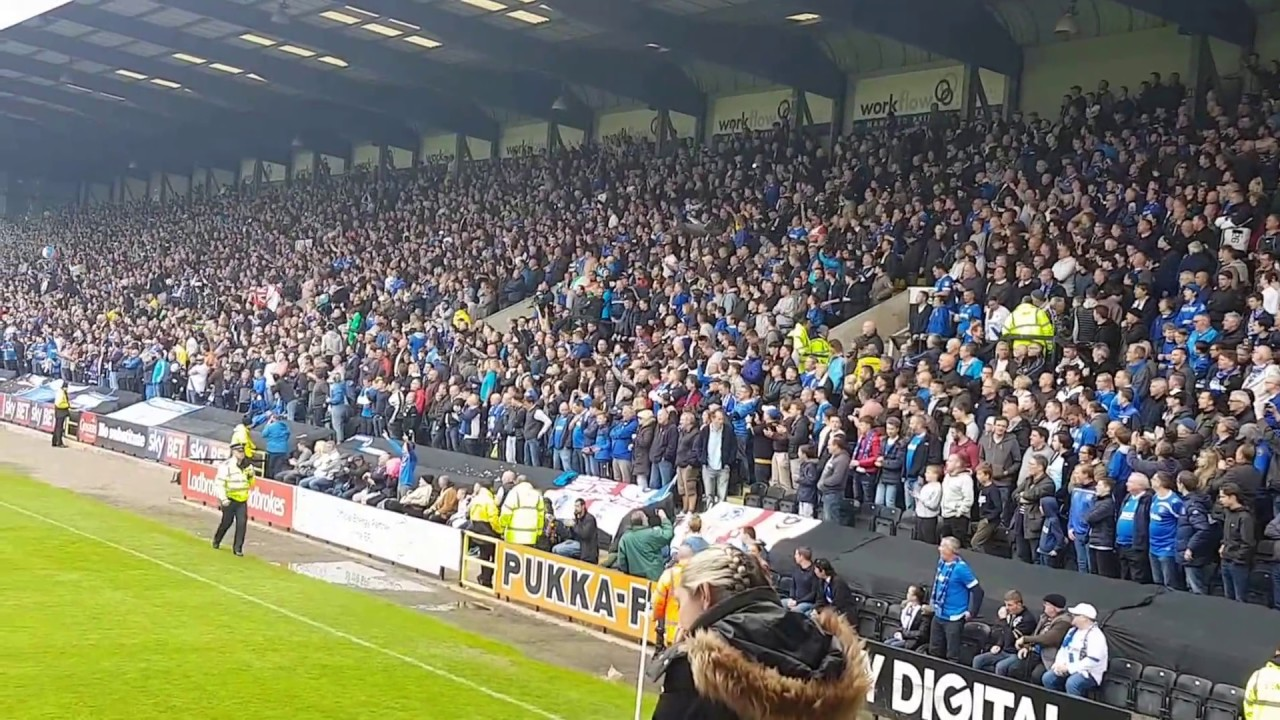 Portsmouth fans at notts county!!! - YouTube