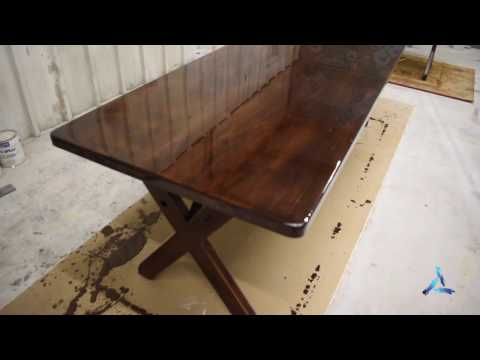 How to Apply Bar Top or Table Top Pour on Finish (Epoxy Resin)