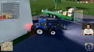 SZKOŁA ŁADOWANIA TUREM CZĘŚĆ DRUGA - Ellerbach #4 - Farming Simulator 19   SWIATEK
